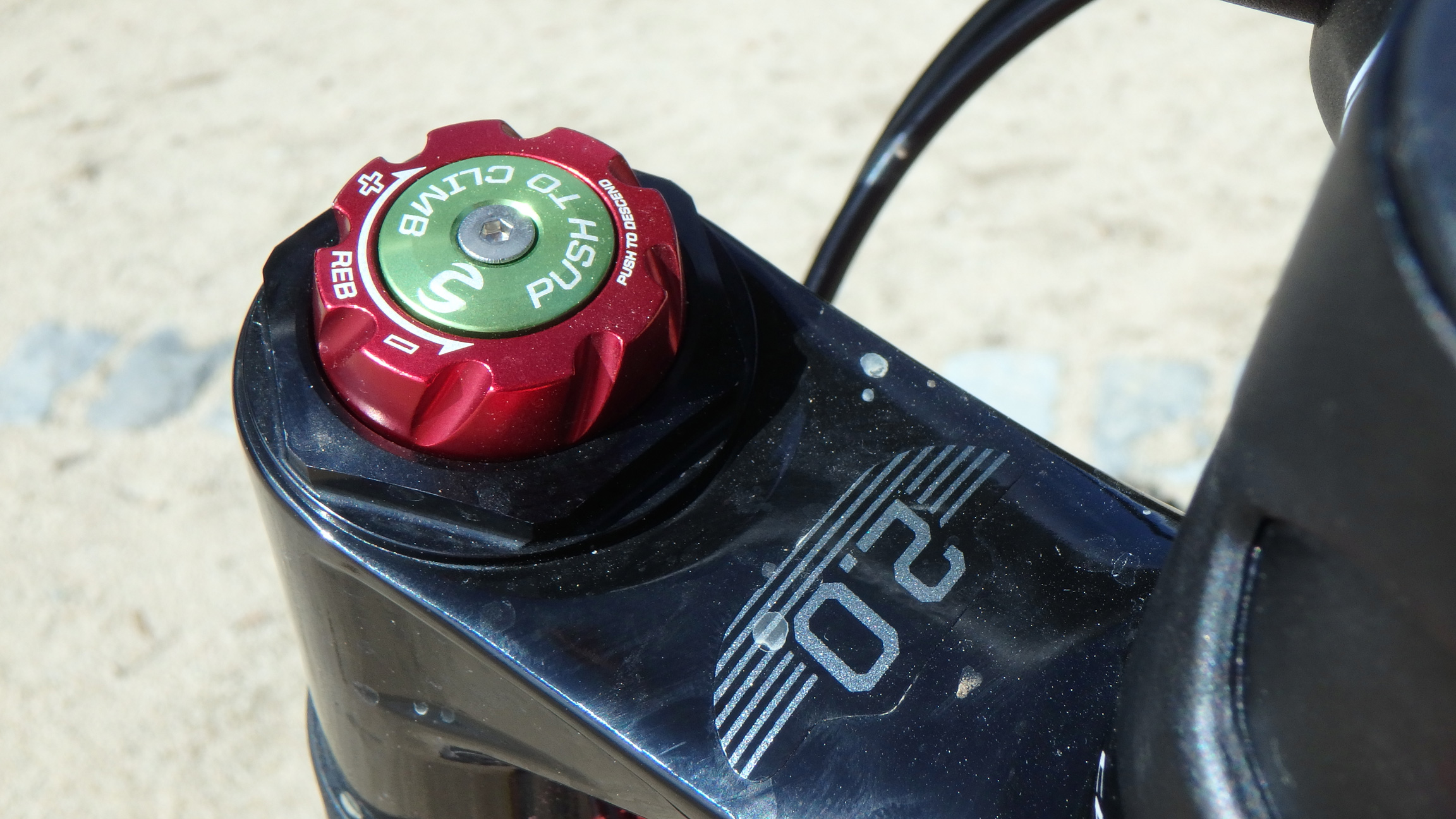 Botón Poplock horquilla Lefty 2.0